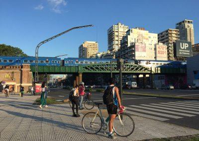 Trein door Palermo, Argentinie