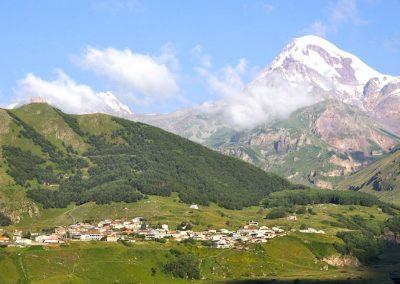 Kazbegi met-berg Kazbek