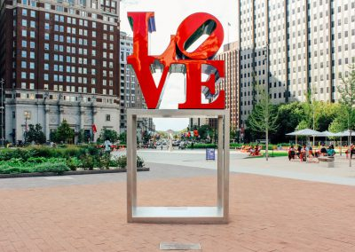 Love Statue. Credit K. Huff for PHLCVB