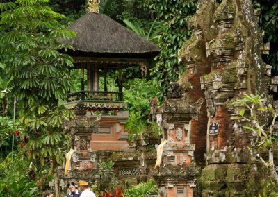 Balinese tempel in de natuur