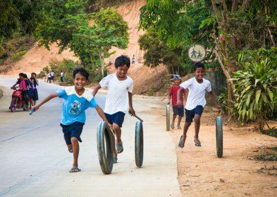 Voorkeur - Spelende kinderen in Palawan